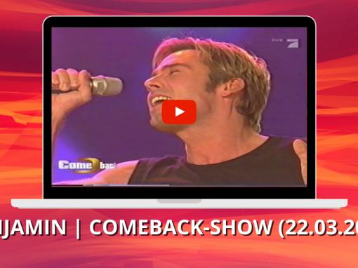 Benjamin Boyce | Against all odds | Comeback – die große Chance | Folge 7 (22.03.2004)
